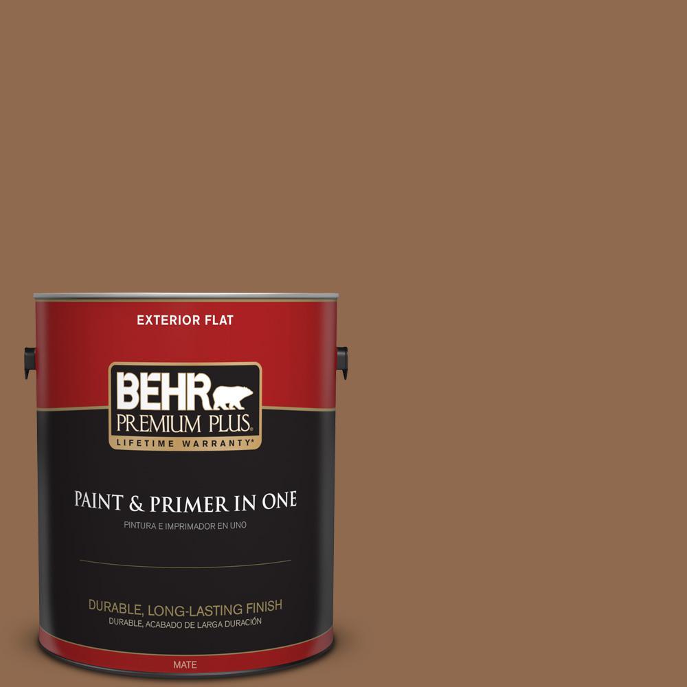 1 gal. #PPU4-01 Caramel Swirl Flat Exterior Paint