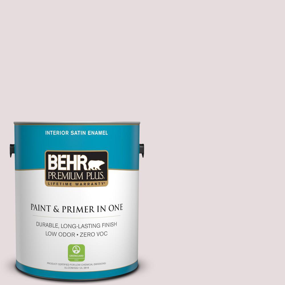 BEHR Premium Plus 1-gal. #100E-1 Coquette Zero VOC Satin Enamel Interior Paint