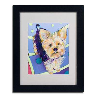 11 in. x 14 in. Claire Black Framed Matted Art