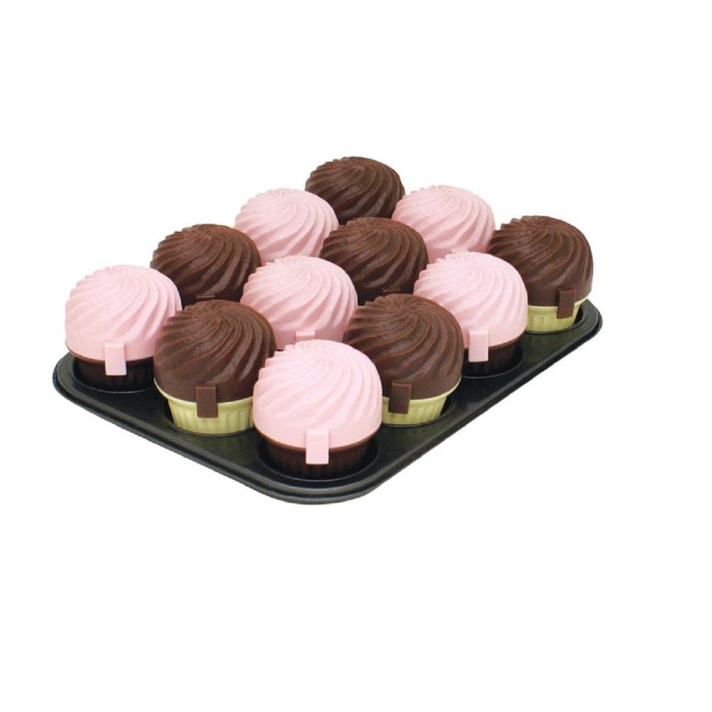 null 12-Cup Muffin Pan with 12 Cupcase-DISCONTINUED
