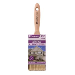 Athena 2-1/2 inch Flat Polyester Bristle Blend Paint Brush (12-Pack)