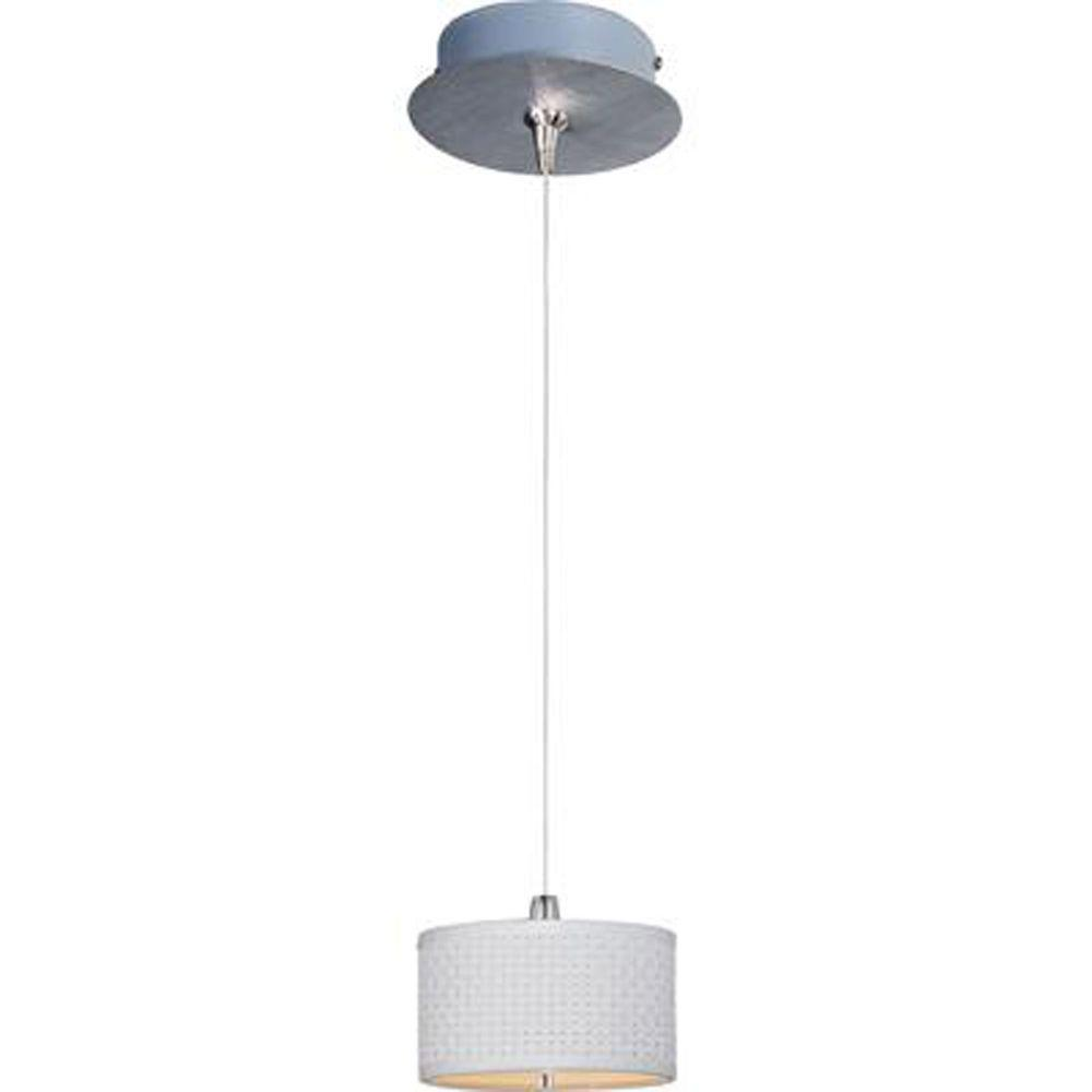 null Elements 1-Light Satin Nickel RapidJack Pendant and Canopy