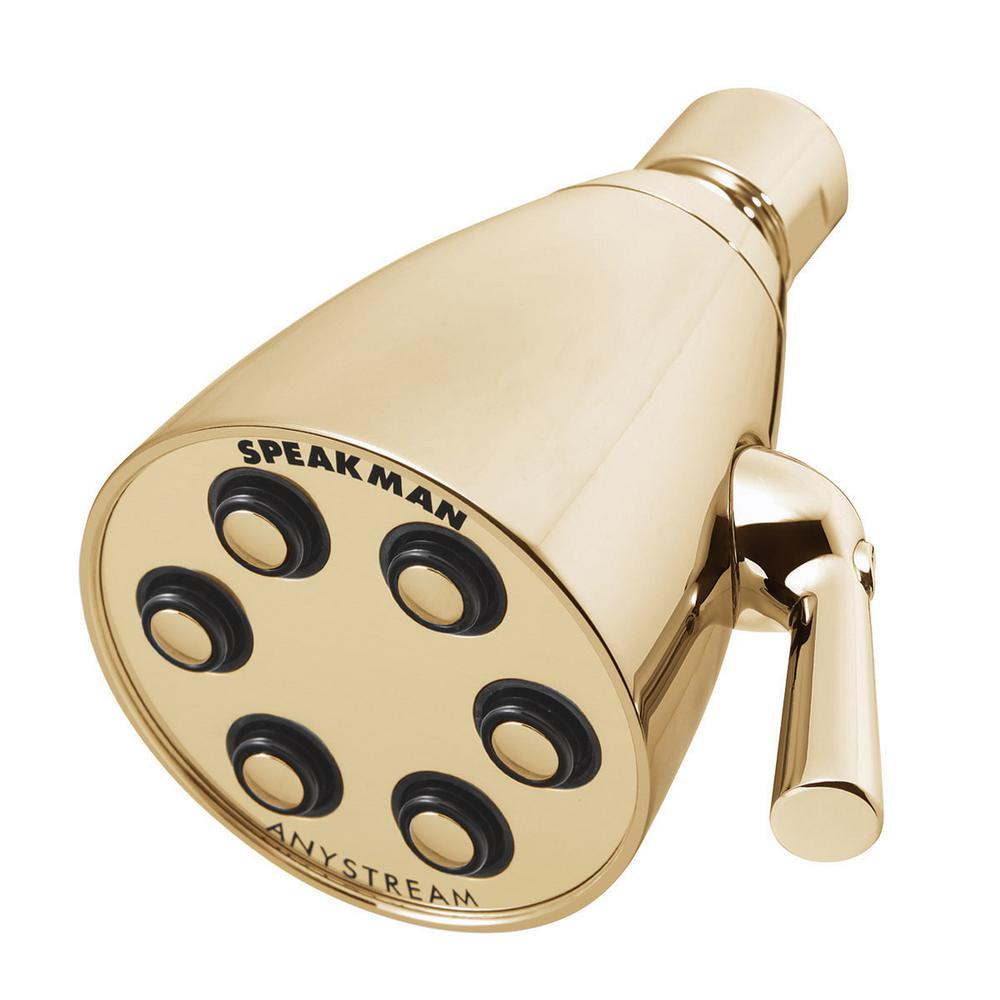 Anystream Icon 3-Spray 2.75 in. Signature Brass 2.0 GPM Fixed Shower