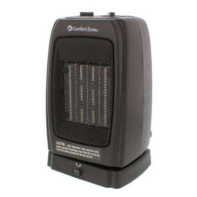 1,500-Watt Ceramic Electric Portable Heater with Oscillation - Black