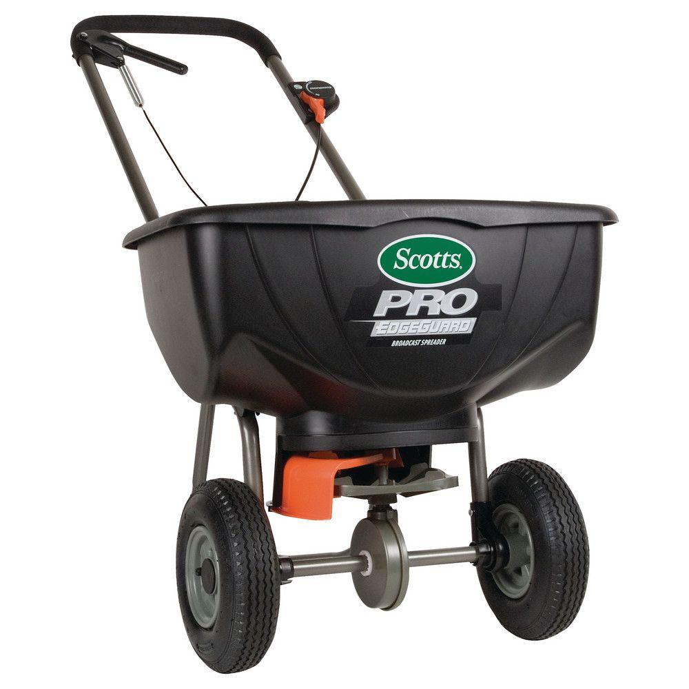 Broadcast Spreader Turf : Scotts pro edgeguard broadcast spreader the home depot