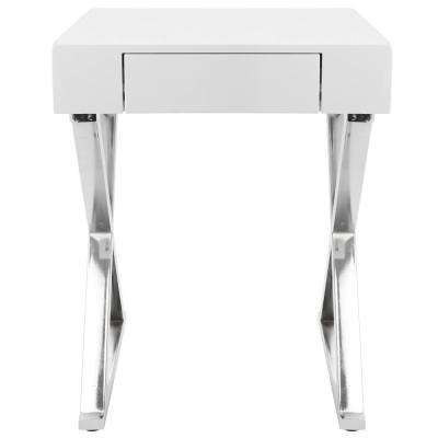 Luster White Side Table