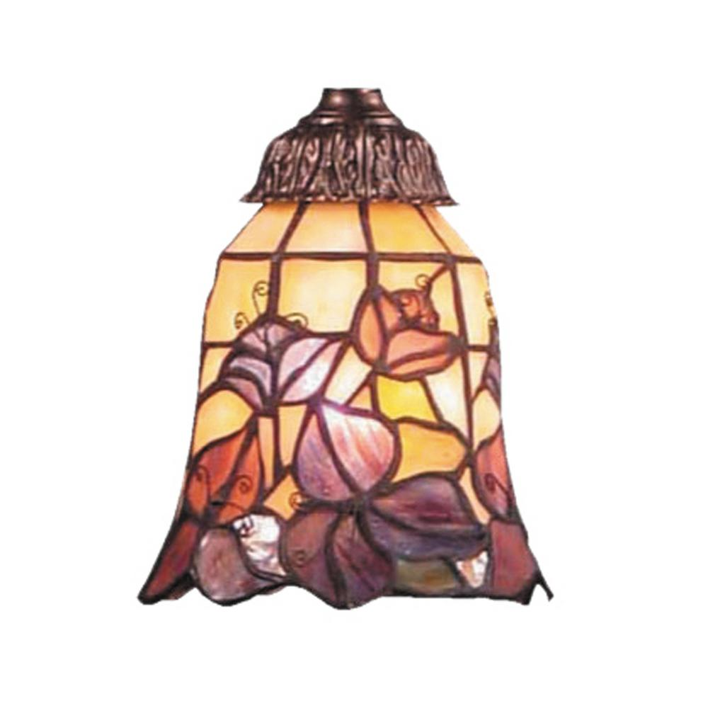 Mix-N-Match 1-Light Floral Tiffany Glass Shade