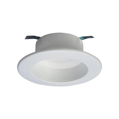 RL 4 in. White Integrated LED Recessed Ceiling Light Fixture Retrofit Baffle Trim with 90 CRI, 5000K Daylight