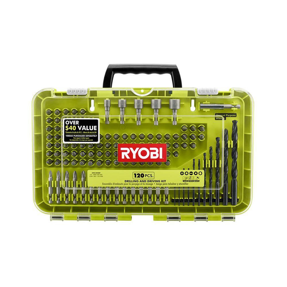 RYOBI RYOBI Black Oxide Drill and Drive Kit (120-Piece)
