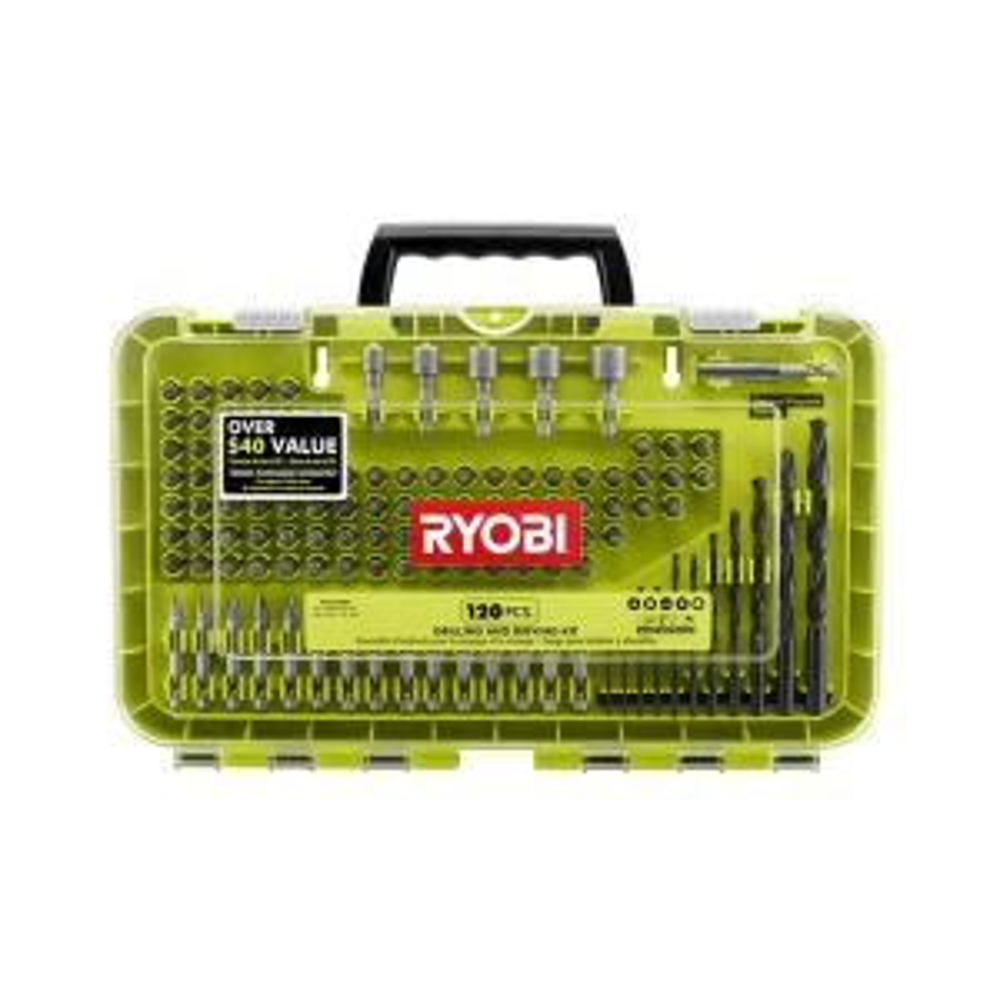 120-Piece RYOBI Black Oxide Drill and Drive Kit