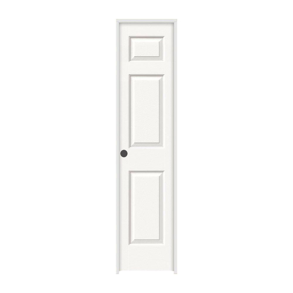 Jeld Wen 18 In X 80 In Colonist White Painted Right Hand Textured Molded Composite Mdf Single