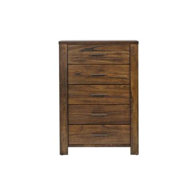 Brayden 5-Drawer Satin Mindi Chest of Drawers