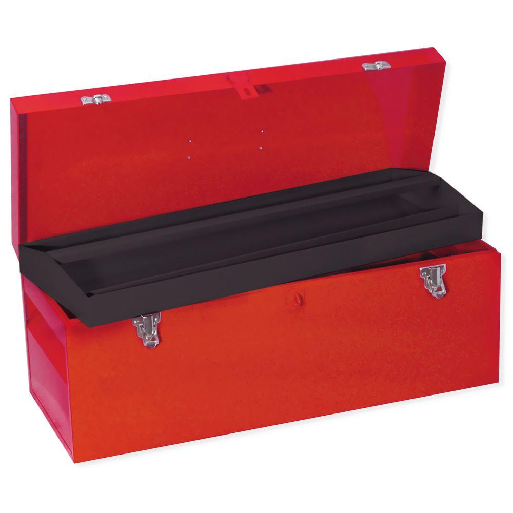 URREA Heavy Duty Metal Tool Box  24 In. X 9 In. X 9