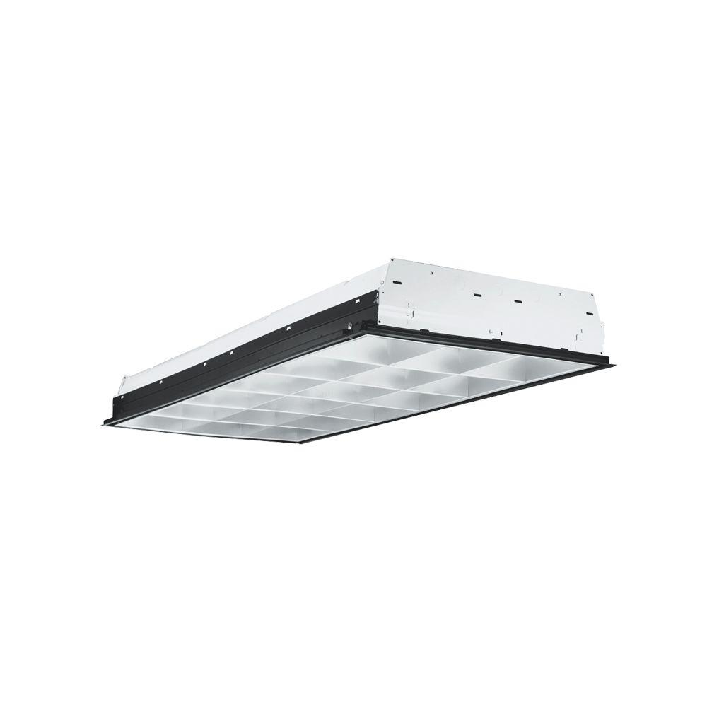 Commercial Grade Led Track Lighting: Metalux 2 Ft. By 4 Ft. 3-Lamp Silver Commercial Grade T8