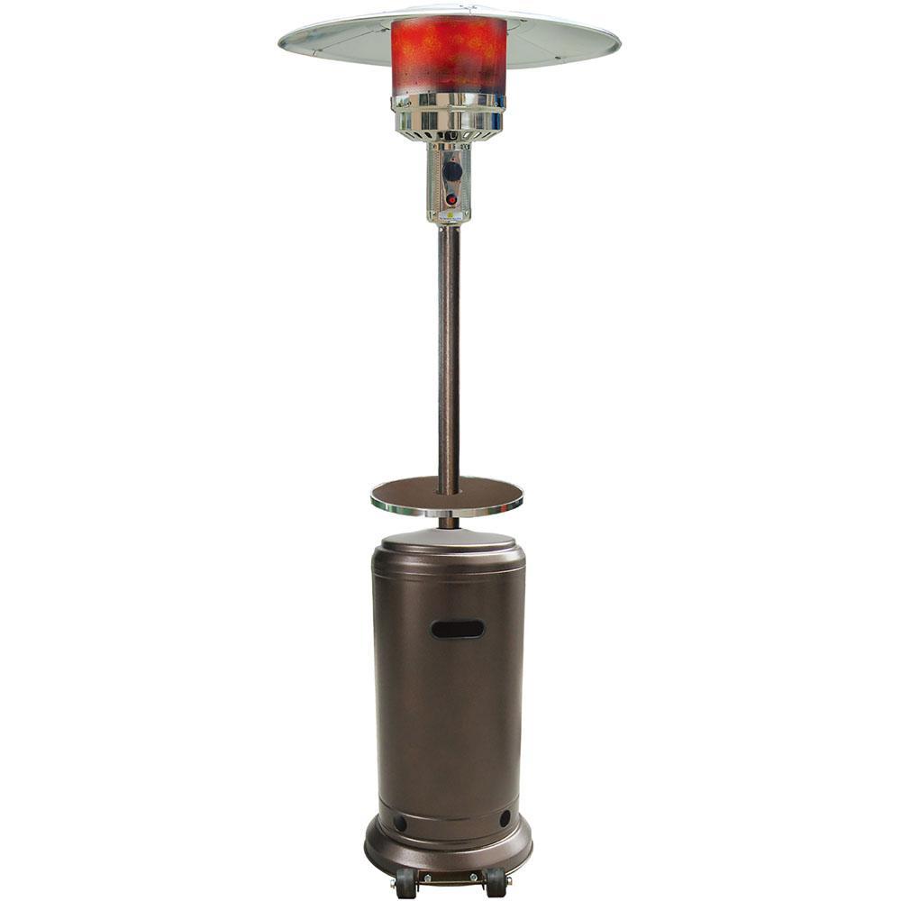 7 ft. 41,000 BTU Hammered Bronze Steel Umbrella Propane Gas Patio Heater