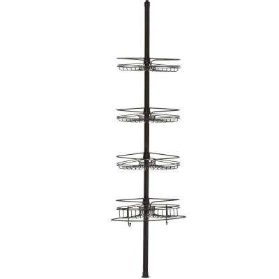 4-Tier Metal Pole Shower Caddy in Bronze