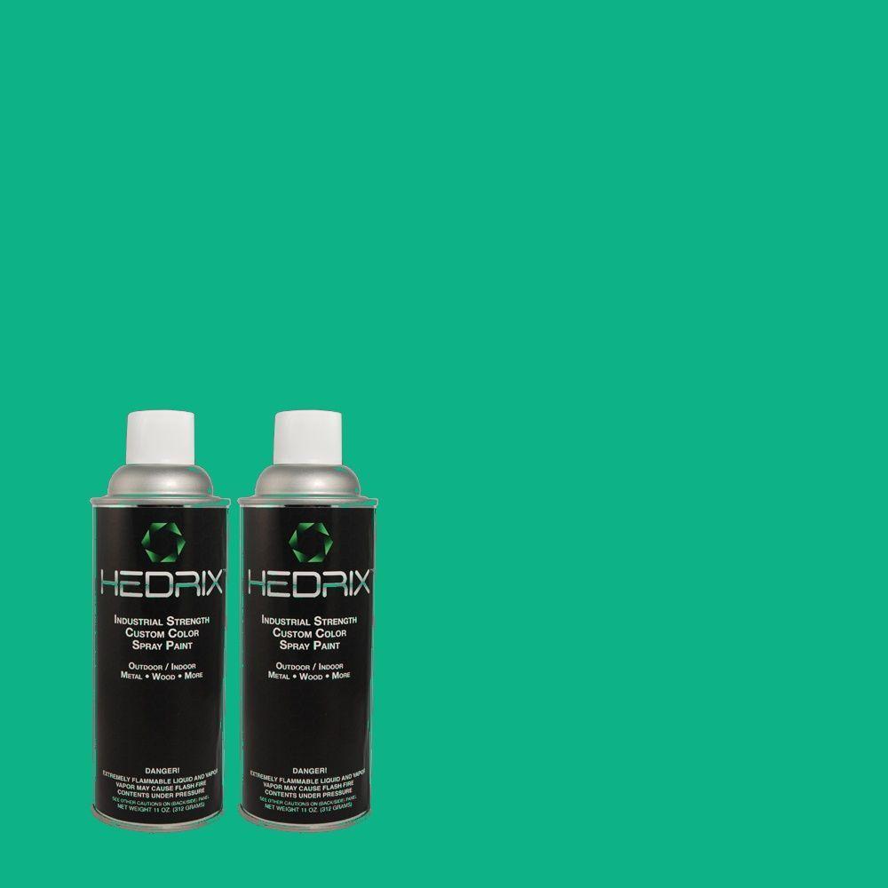 Hedrix 11 oz. Match of 480B-5 Mermaid Song Gloss Custom Spray Paint (2-Pack)