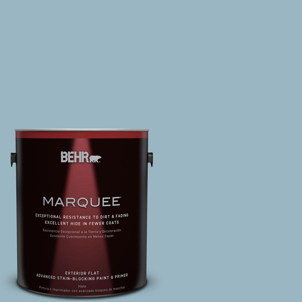 BEHR MARQUEE 1-gal. #S470-3 Peaceful Blue Flat Exterior Paint