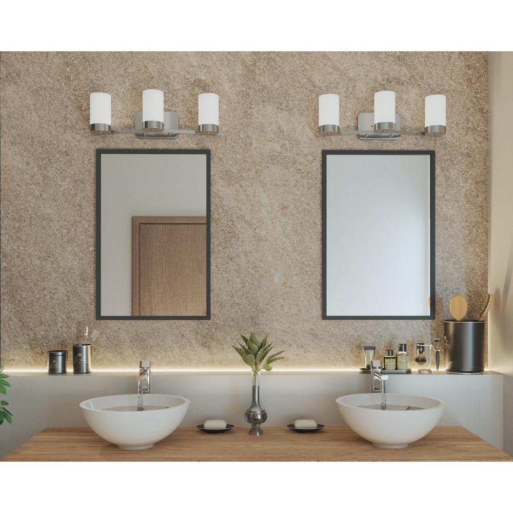 Light Polished Chrome Bathroom Vanity