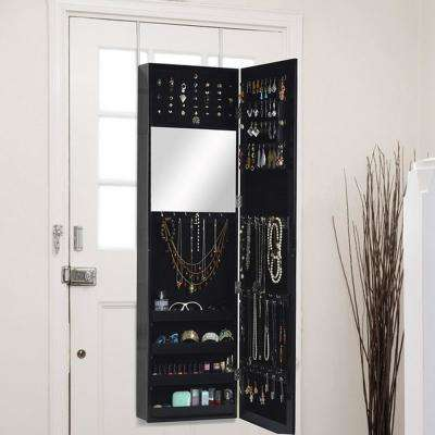 Black Wood Jewelry Armoire