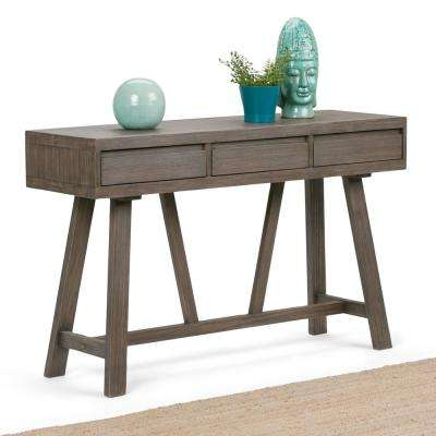 Dylan Driftwood Storage Console Table