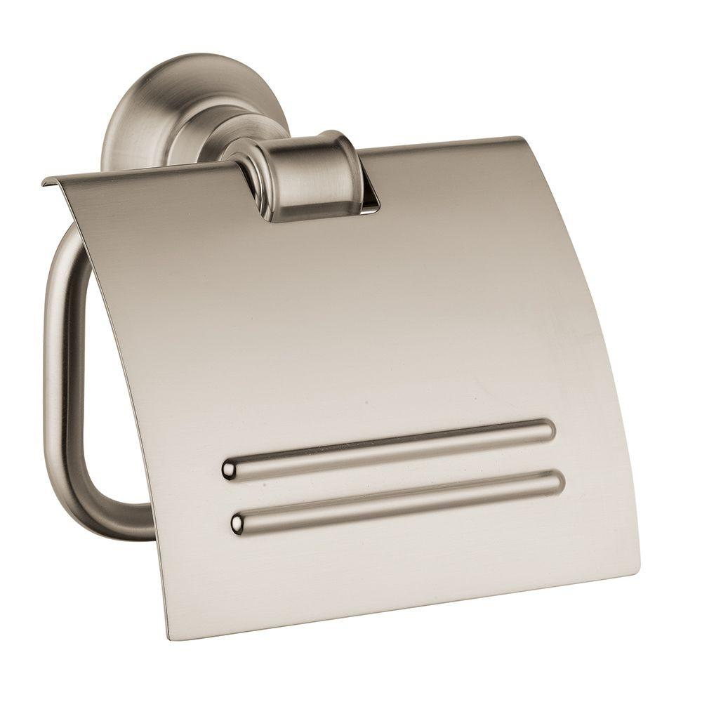 Hansgrohe Axor Montreux Single Post Toilet Paper Holder in Brushed Nickel