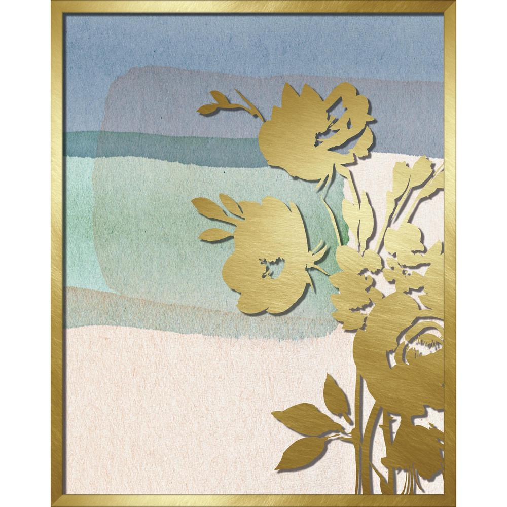 "Linden Ave 16 in. x 20 in. ""Blue Abstract Watercolor W. Peony ..."