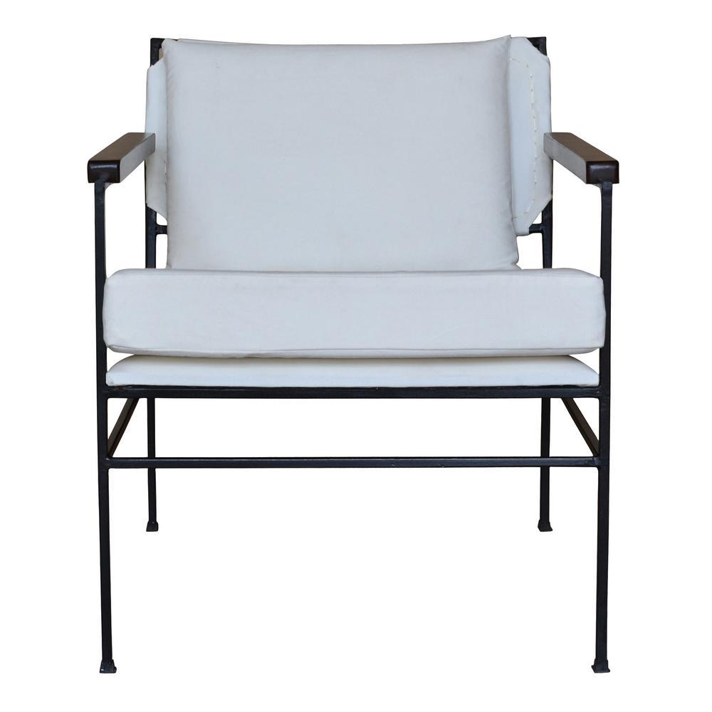 Seaton Black Iron Chair