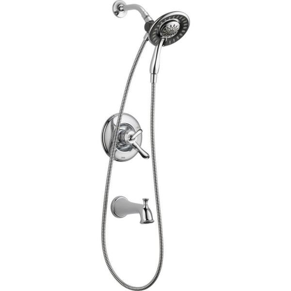 Linden In2ition 1-Handle Tub and Shower Faucet Trim Kit in Chrome (Valve Not Included)