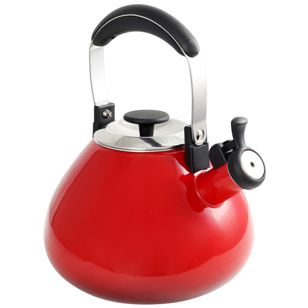 Marlowe 3 Qt. Red Tea Kettle