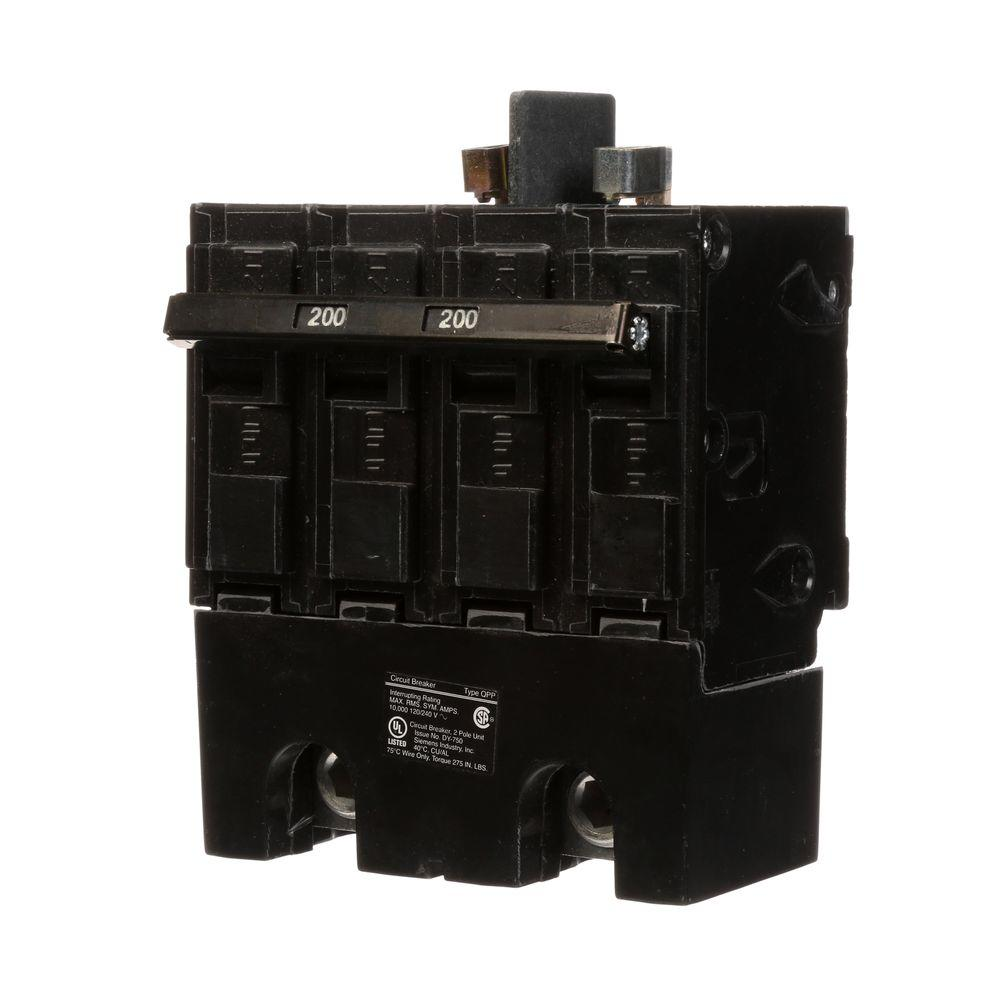 Siemens 200 Amp Double-Pole 10kA Type QPP Circuit Breaker