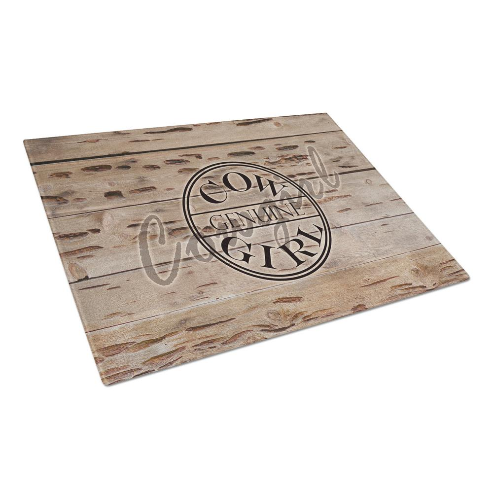 Genuine Cow Girl Branded Tempered Glass Large Cutting Board