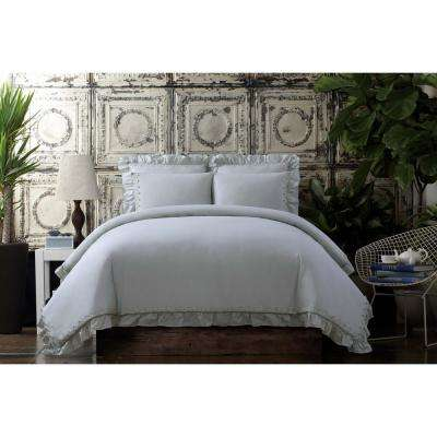 Voile Grey King Comforter Set