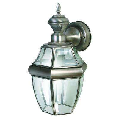 150 Degree Silver Hanging Carriage Lantern with Clear Beveled Glass