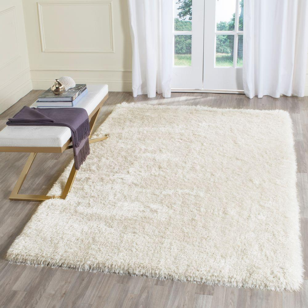 Safavieh Memory Foam Plush Shag Ivory 5 Ft. X 8 Ft. Area Rug