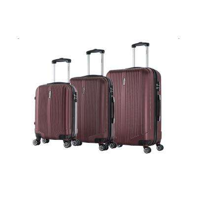 San Francisco lightweight hardside spinner 3 piece Set 18 & 22 & 26-Wine