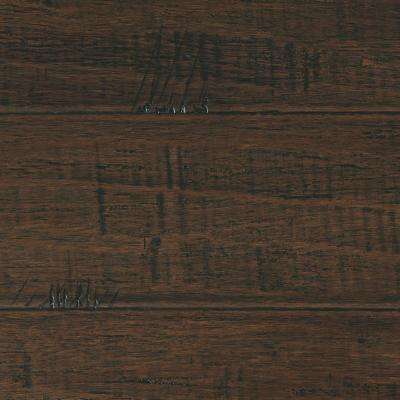 Take Home Sample - Hand Scraped Strand Woven Wellington Click Bamboo Flooring - 5 in. x 7 in.