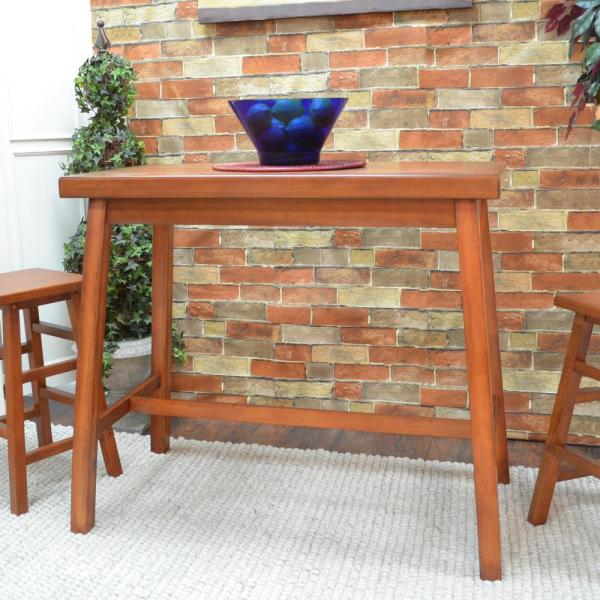 Carolina Cottage Asian Walnut Pub/Bar Table 4222-WAL