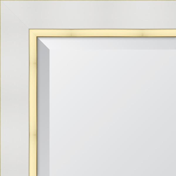 Melissa Van Hise 28 In X 34 In White And Gold Framed Rectangular Beveled Glass Mirror Mir4272228 The Home Depot