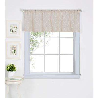 Taylor 60 in. W x 15 in. L Polyester Single Window Curtain Valance in Linen