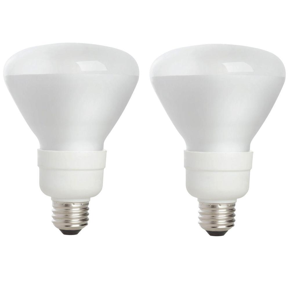 EcoSmart 65-Watt Equivalent BR30 CFL Light Bulb Soft White (2-Pack) was $53.83 now $8.94 (83.0% off)