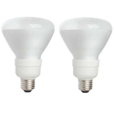 65-Watt Equivalent BR30 CFL Light Bulb Soft White (2-Pack)