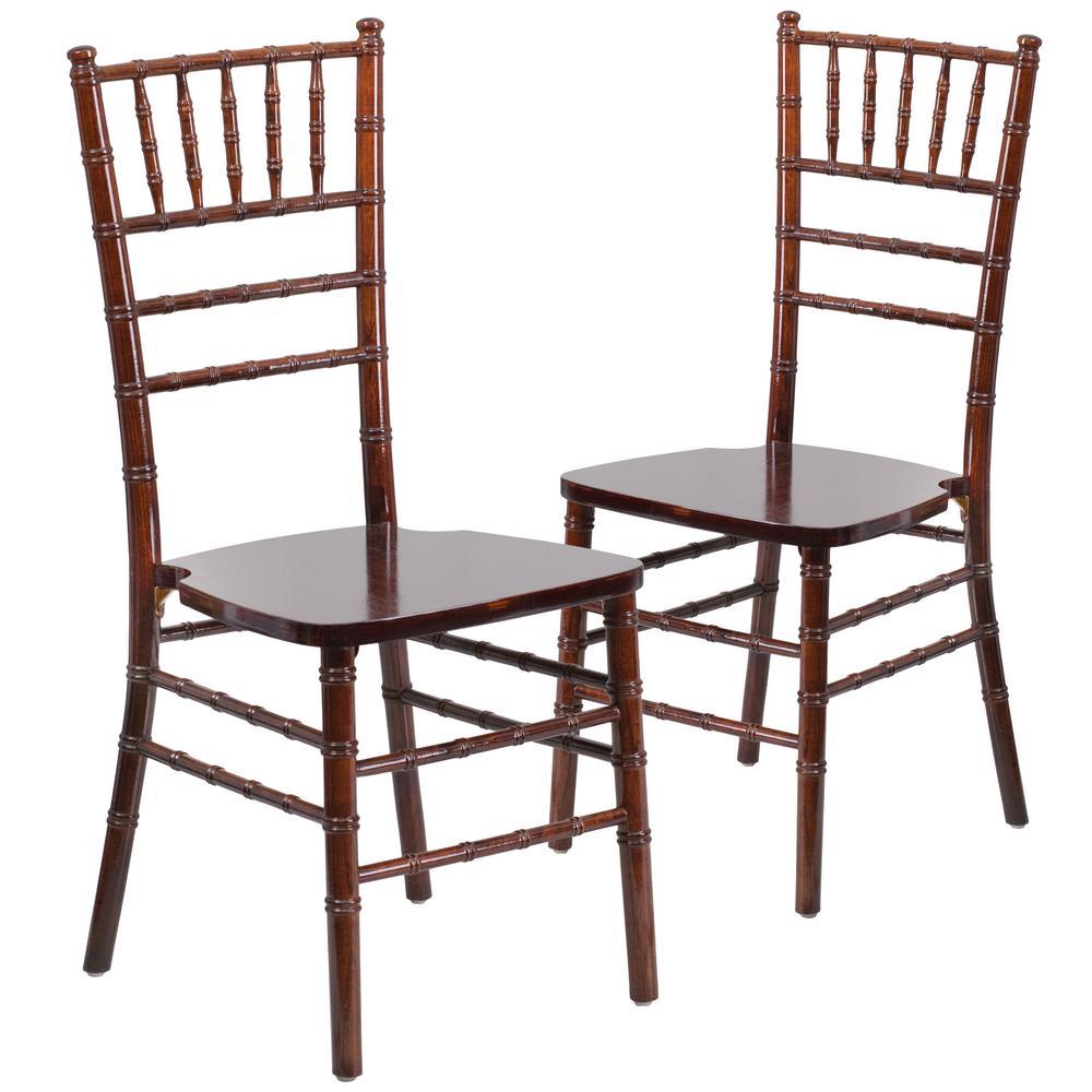Carnegy Avenue Fruitwood Wood Chiavari Chairs Set Of 2 Cga Xs 158069 Fr Hd The Home Depot