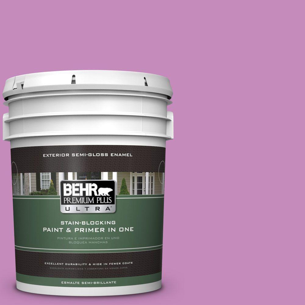 5-gal. #P110-4 Rock Star Pink Semi-Gloss Enamel Exterior Paint
