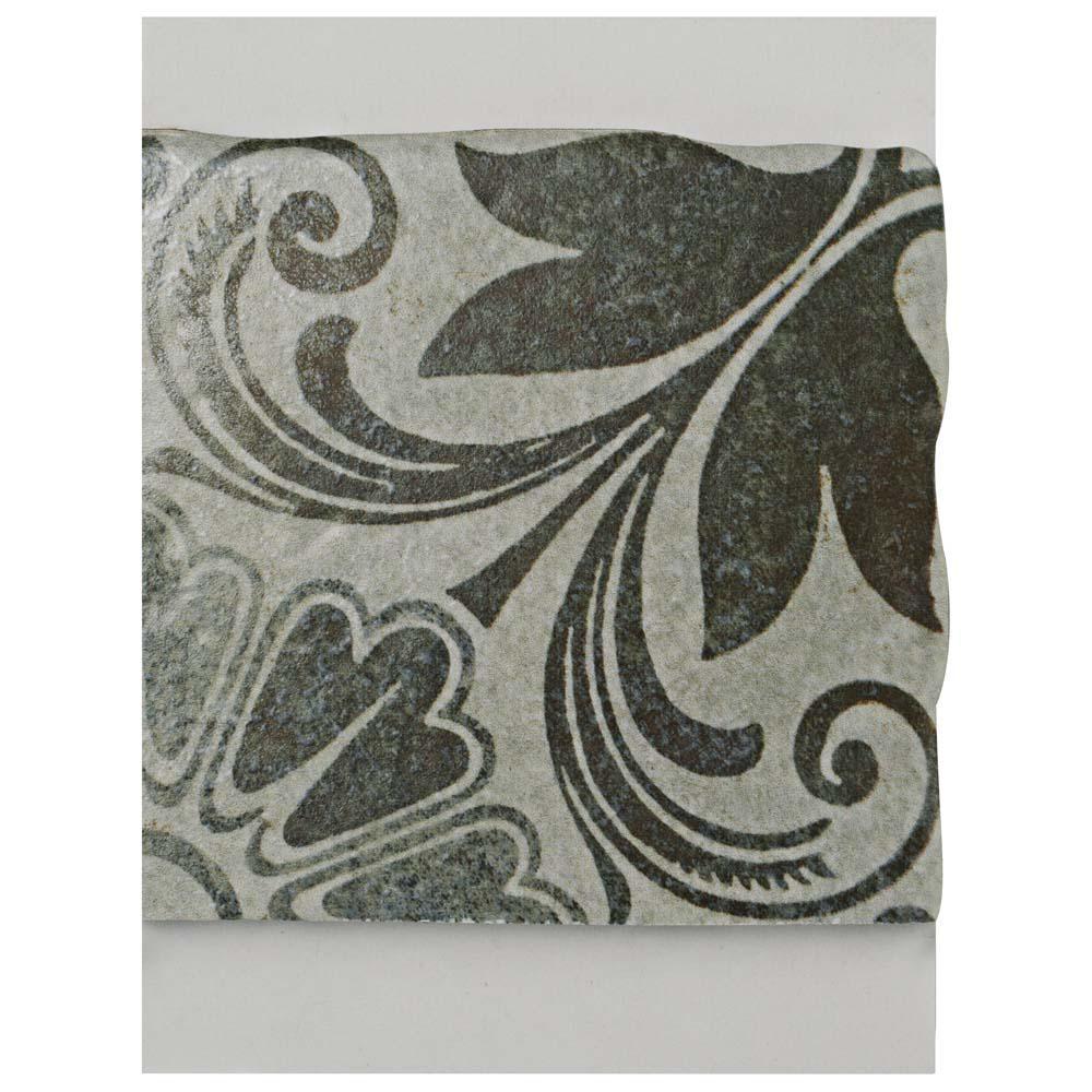 Merola Tile Costa Cendra Decor Dahlia Encaustic Ceramic Floor And