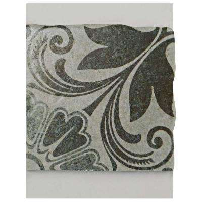 Costa Cendra Decor Dahlia Encaustic Ceramic Floor and Wall Tile - 3 in. x 4 in. Tile Sample