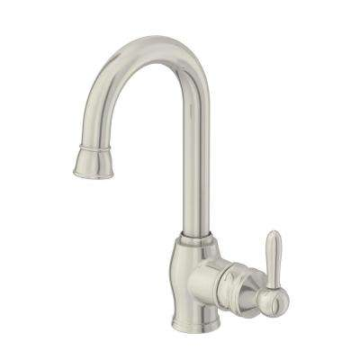 Newbury Single-Handle Bar Faucet in Stainless Steel