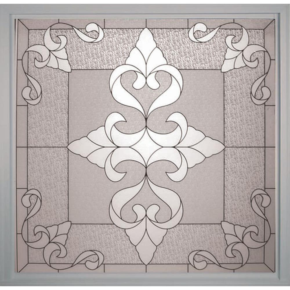 Decorative Windows For Homes: Hy-Lite 49.75 In. X 49.75 In. Decorative Glass Fixed Vinyl