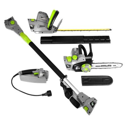 8 in. 7 Amp Electric Chainsaw and 18 in. 4.5 Amp Hedge Trimmer with Pole Attachment (4-Tools in-1)