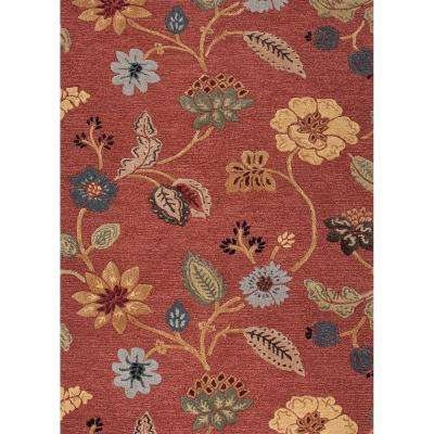 Hand-Tufted Copper Brown 4 ft. x 6 ft. Floral Area Rug